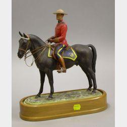 Royal Worcester Bone China Royal Canadian Mounted Policeman