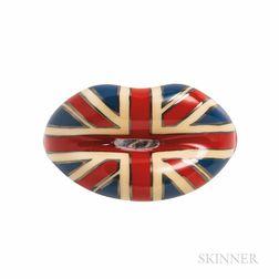 """Solange Azagury-Partridge """"Union Jack Hotlips"""" Ring"""
