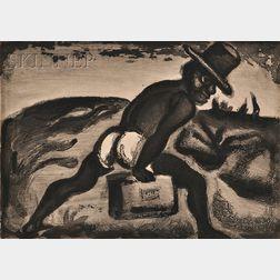 Georges Rouault (French, 1871-1958)      Nègre portant une valise