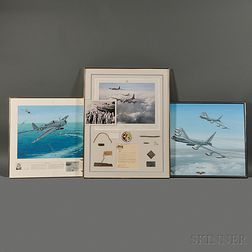 Three Framed Aircraft Related Artwork and Memorabilia Items
