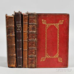 English Titles, 17th Century, Four Octavo Volumes.