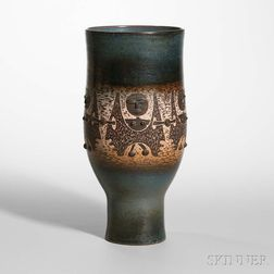 Edwin and Mary Scheier Pottery Vessel