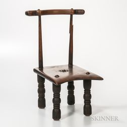 Ashanti-style Low Wood Chair