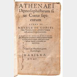 Athenaeus of Naucratis (2nd/3rd Century AD) Athenaei Dipnosophistarum sive Coenae Sapientum Libri XV.