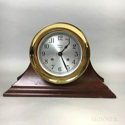 "Chelsea ""Shipstrike"" Brass and Mahogany Ship's Bell Mantel Clock"
