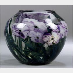 Josh Simpson Floral Paperweight Vase
