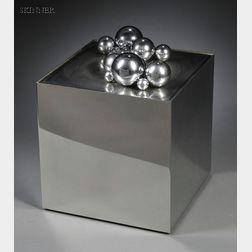 Pol Bury (Belgian, 1922-2005)      15 billes d'acier sur un cube