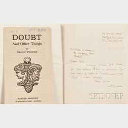 Vedder, Elihu (1836-1923) and Porter Edward Sargent (1872-1951) Correspondence: