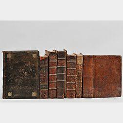 English Theology, 17th Century, Seven Quarto Volumes.