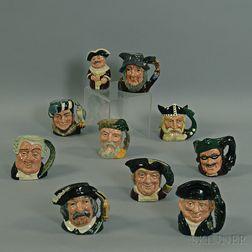 Ten Royal Doulton Ceramic Character Mugs