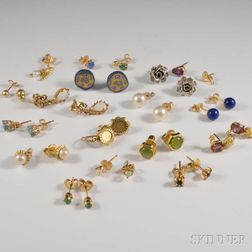 Group of Earrings