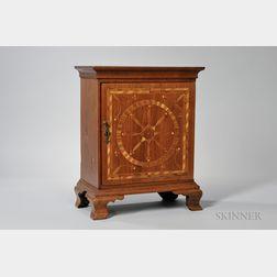 Inlaid Walnut Spice Cabinet