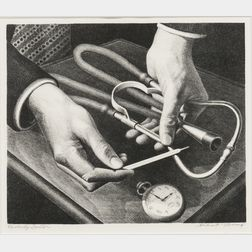 Grant Wood (American, 1891-1942)      Family Doctor