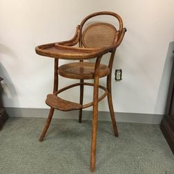 Thonet-style Bentwood High Chair
