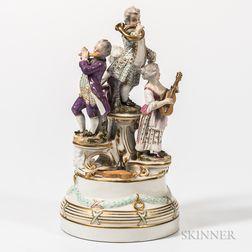 Austrian Porcelain Musician Group