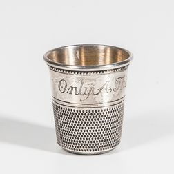 Silver-plated Gold-wash Thimble Beaker