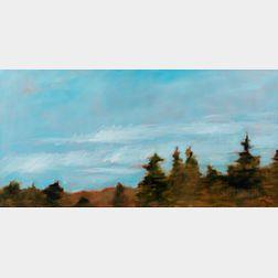 Heather Pilchard (American, 20th/21st Century)      Nova Scotia Treeline