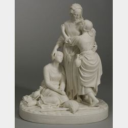 Minton Parian Group of Naomi and Her Daughters-in-Law