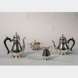 Four-piece Tiffany & Co. Sterling Silver Tea and Coffee Service