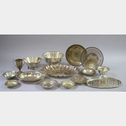 Collection of Seventeen Sterling Silver and Silver Plated Yachting Trophies.     Estimate $30-50