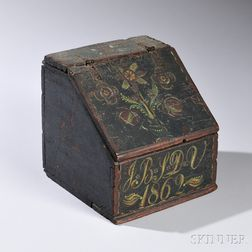 Paint-decorated Slant-lid Writing Box