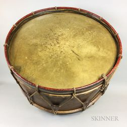 Large Painted Bentwood Bass Drum
