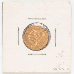 1913 $2.50 Indian Head Quarter Eagle Gold Coin