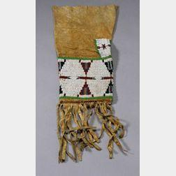 Central Plains Beaded Hide Pipe Bag
