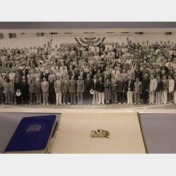 20th Century Fox Studios Salesman's 1937 Autograph Book, Banquet Program, and   Group Photograph