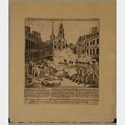"""""""Fac-Simile"""" Engraving of Paul Revere's Boston Massacre"""