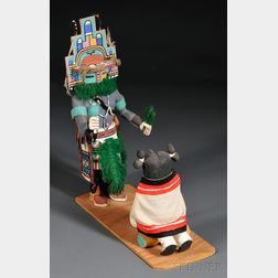 Two Carved Wood Kachinas by Andrew Grover