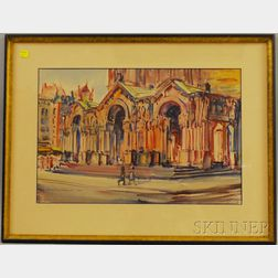 Charles Peter Demetropoulos (American, 1912-1976)      Trinity Church