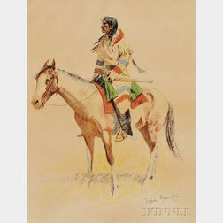 Frederic Remington (American, 1861-1909)      Five Images from A BUNCH OF BUCKSKINS