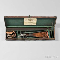 """James Woodward & Sons Snap-action Sidelock 12 Gauge Double-barrel Shotgun """"The Automatic"""" in Maker's Case"""