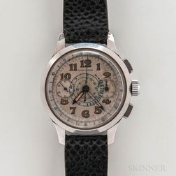 Longines Stainless Steel 13ZN Chronograph Wristwatch