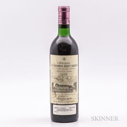Chateau La Mission Haut Brion 1970, 1 bottle