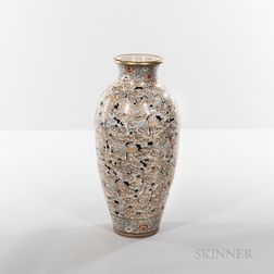 "Large Export Enameled ""Hundred Cranes"" Vase"