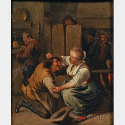 School of Jan Steen (Dutch, 1626-1679)      Tavern Interior with Tussling Couple