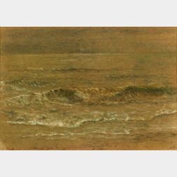 Anglo/American School, 19th Century    Sea Waves