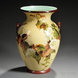 Doulton Lambeth Faience Two-handled Vase