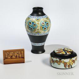 Three Boch Freres Pottery Items
