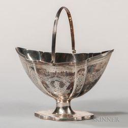 George III Sterling Silver Sugar Basket