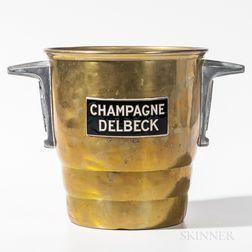 """Brass """"Champagne Delbeck"""" Bucket"""