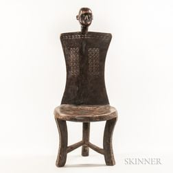 Tanzanian-style Carved Wood Chair