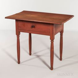 Salmon Red-painted Tavern Table