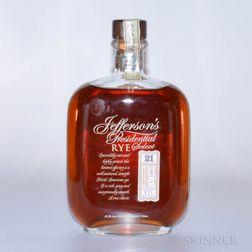 Jeffersons Presidential Select Rye 21 Years Old, 1 750ml bottle