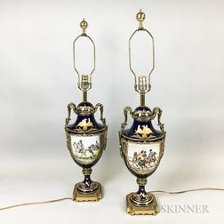 Pair of French Porcelain Vases