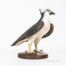 Large Carved and Painted Figure of an Osprey