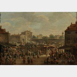 Dutch School, 18th Century      Market Square