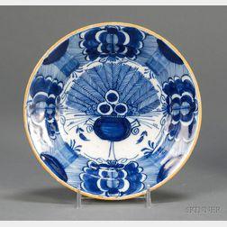 Dutch Delft Peacock Pattern Dish